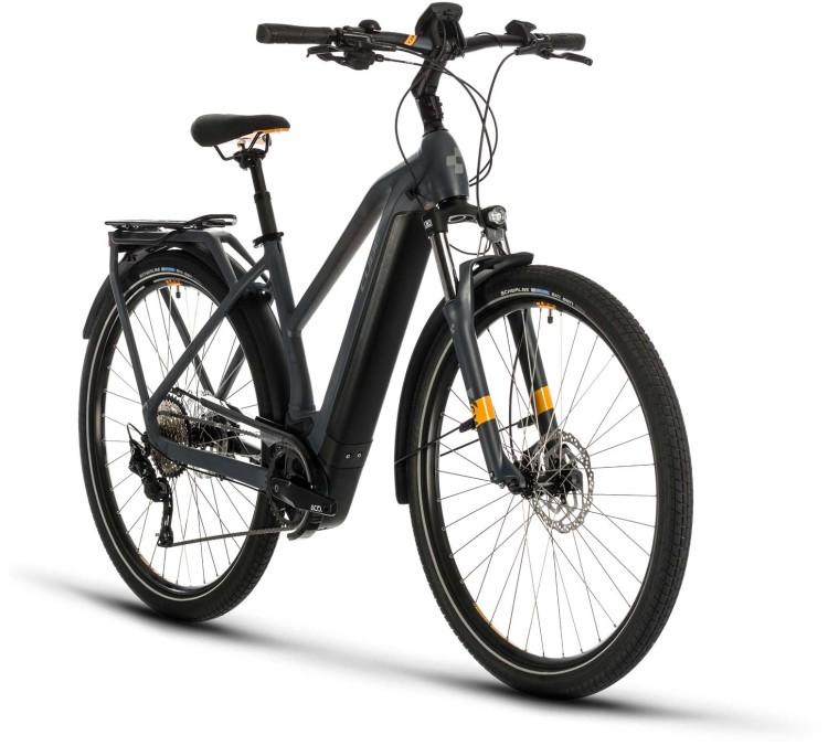 Cube Kathmandu Hybrid Pro 625 grey n orange 2020 - E-Bike Trekkingrad Damen