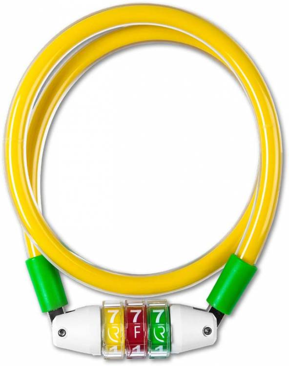 RFR Zahlenkabelschloss Style CMPT yellow n green