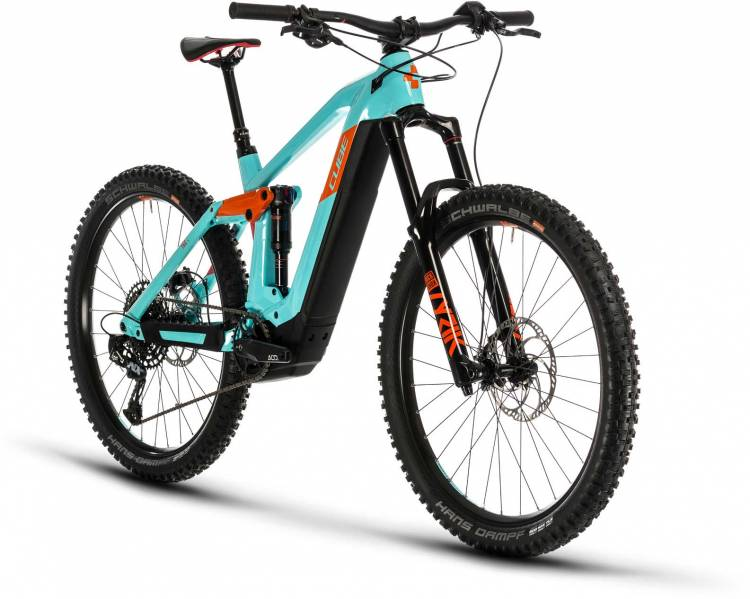Cube Stereo Hybrid 160 HPC SL 625 27.5 glacierblue n orange 2020 - E-Bike Fully Mountainbike