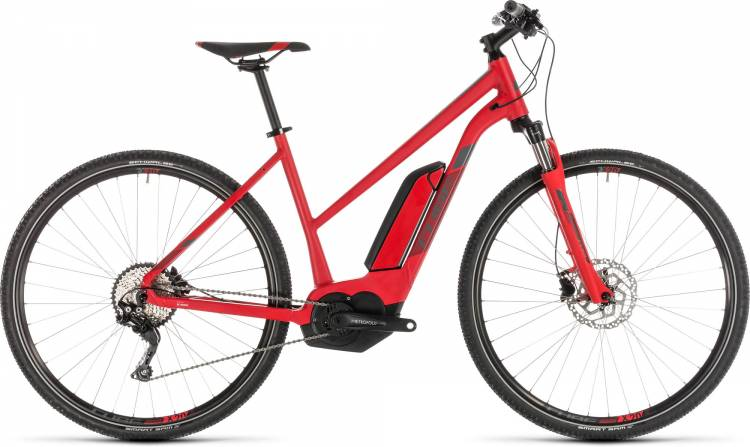 Cube Cross Hybrid Pro 400 red n grey 2019