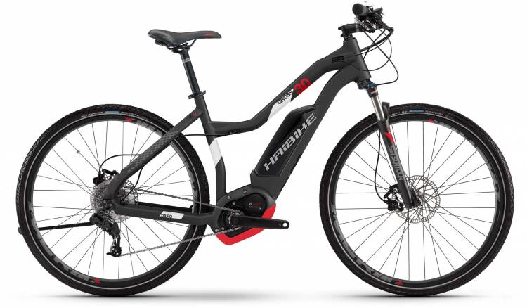 Haibike XDURO Cross 3.0 500Wh titan/weiß/rot matt 2017 - Damen Trapez E-Bike Crossrad