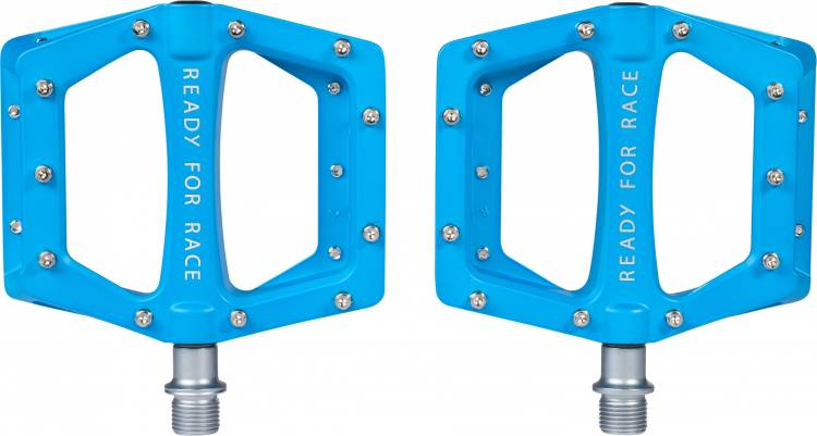 Cube RFR Pedale Flat RACE blau