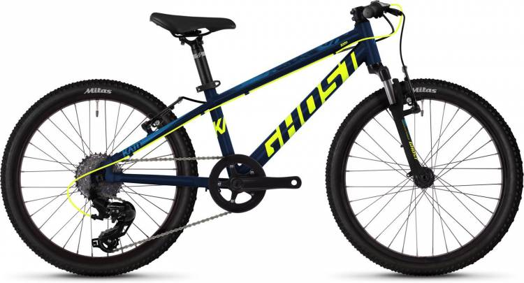 Ghost Kato 2.0 AL U night blue / neon yellow / riot blue 2020 - Kinderrad 20 Zoll