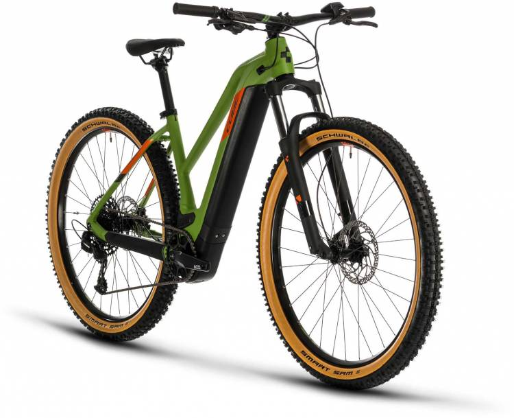 Cube Reaction Hybrid EX 500 29 green n orange 2020 - E-Bike Hardtail Mountainbike Damen