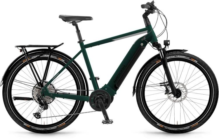 Winora Yucatan 10 i630Wh emerald matt 2021 - E-Bike Trekkingrad Herren