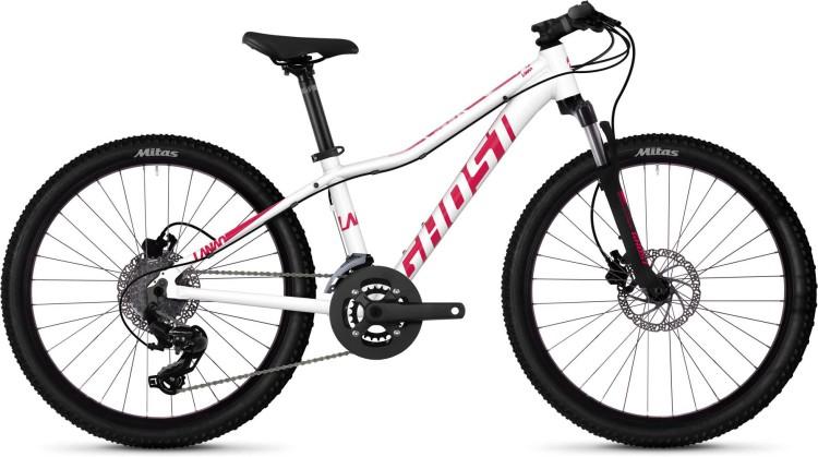 Ghost Lanao D4.4 AL W star white / ruby pink 2020 - Kinderrad 24 Zoll