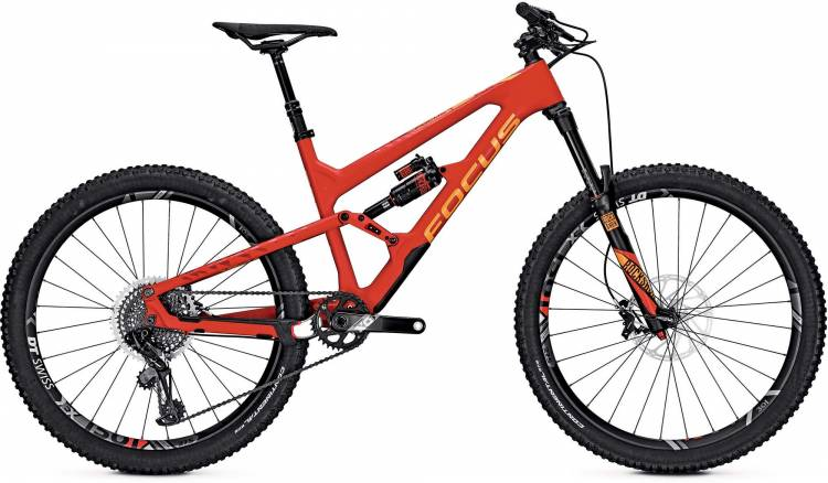 Focus Sam C Team 27 red/orange 2017 - Fully Mountainbike
