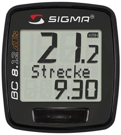 Sigma Fahrradcomputer BC 8.12 ATS kabellos schwarz