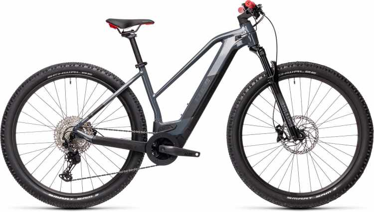 Cube Reaction Hybrid Race 625 29 grey n red 2021 - E-Bike Hardtail Mountainbike Damen