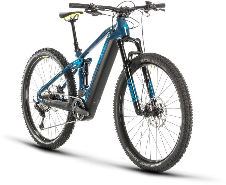Cube Stereo Hybrid 120 SL 625 29 blue n yellow 2020 - E-Bike Fully Mountainbike