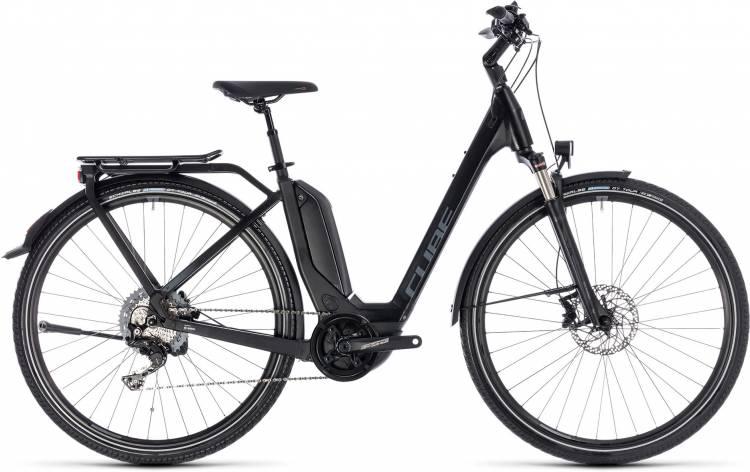 Cube Touring Hybrid EXC 500 black n grey 2018 - Tiefeinsteiger E-Bike Trekkingrad