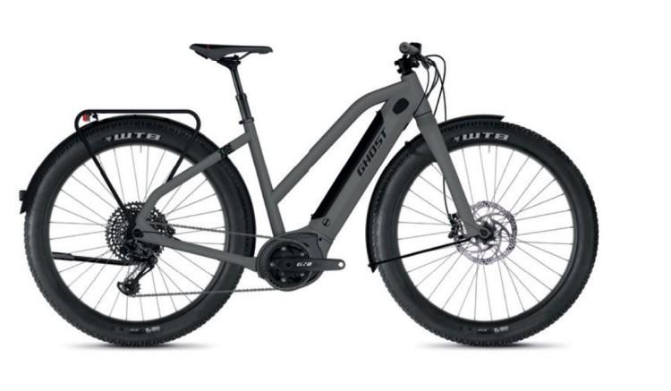 Ghost Hybride Square Travel B4.7+ AL W rock / jet black 2020 - E-Bike Trekkingrad Damen