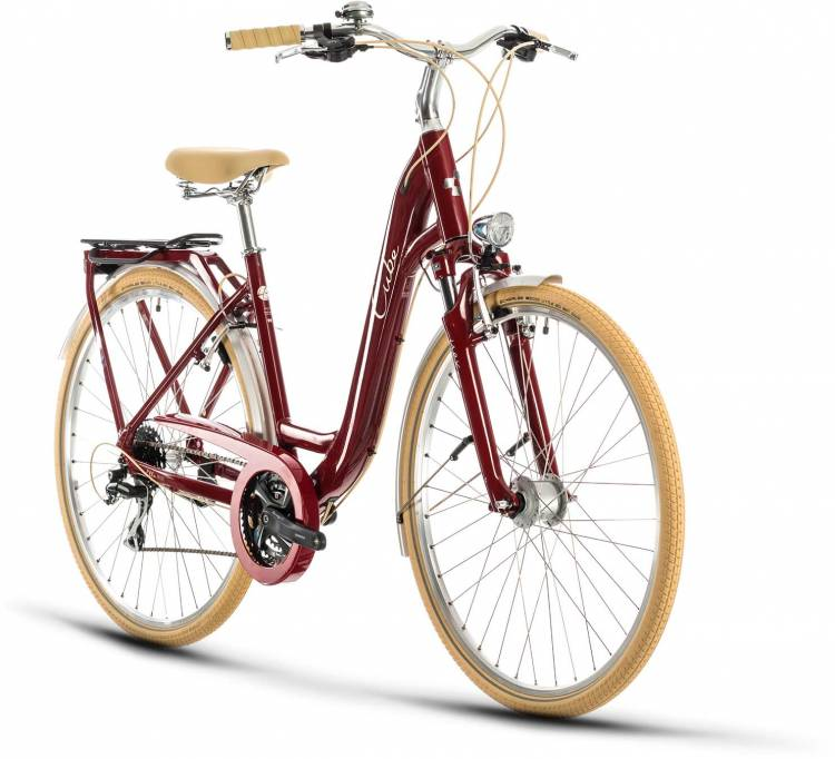 Cube Ella Ride red n cream 2020 - Trekkingrad Tiefeinsteiger
