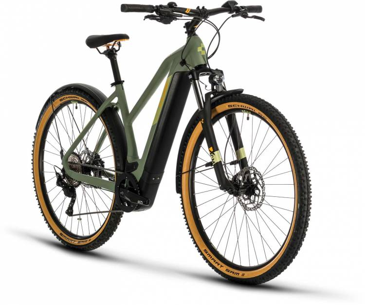 Cube Cross Hybrid Pro 500 Allroad green n orange 2020 - E-Bike Crossrad Damen