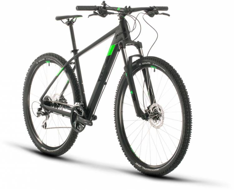 Cube Aim Race black n flashgreen 2020 - Hardtail Mountainbike