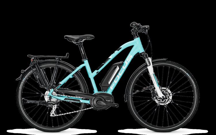 Focus Aventura blue 2017 - Damen Trapez E-Bike Trekkingrad