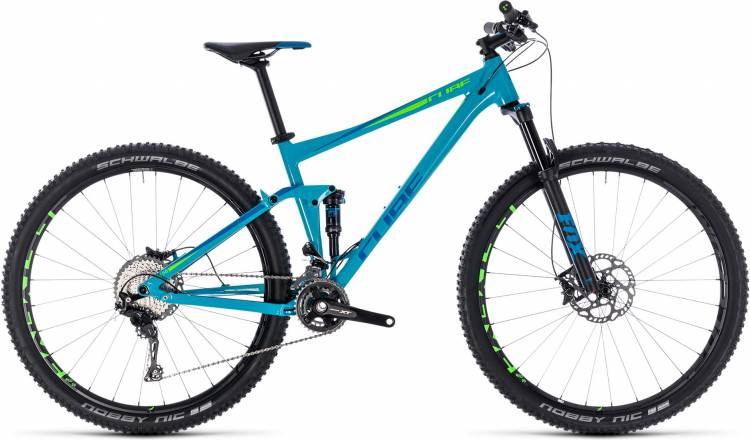 Cube Stereo 120 Race blue n green 2018 - Fully Mountainbike