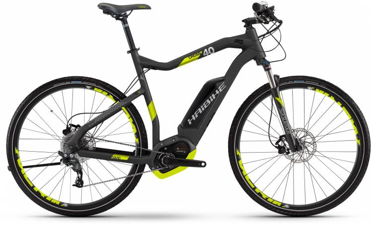 Haibike XDURO Cross 4.0 500Wh titan/lime matt 2017 - Herren E-Bike Crossrad