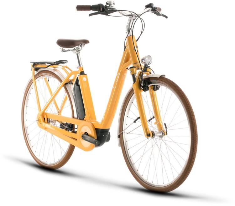 Cube Ella Cruise Hybrid 500 yellow n white 2020 - E-Bike Trekkingrad Tiefeinsteiger