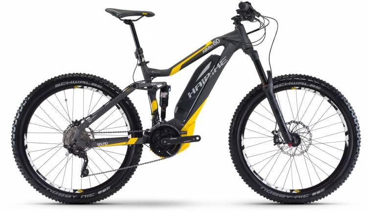 Haibike SDURO AllMtn 6.0 500Wh anthr./gelb/grau matt 2017 - E-Bike Fully Mountainbike