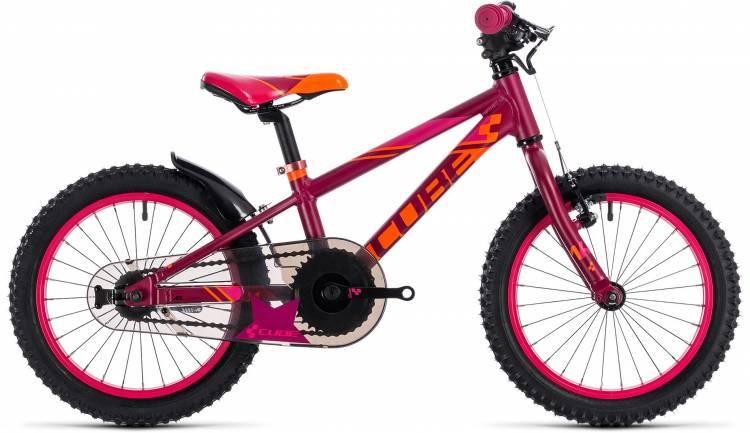 Cube Kid 160 girl berry n pink 2018 - Kinderrad 16 Zoll