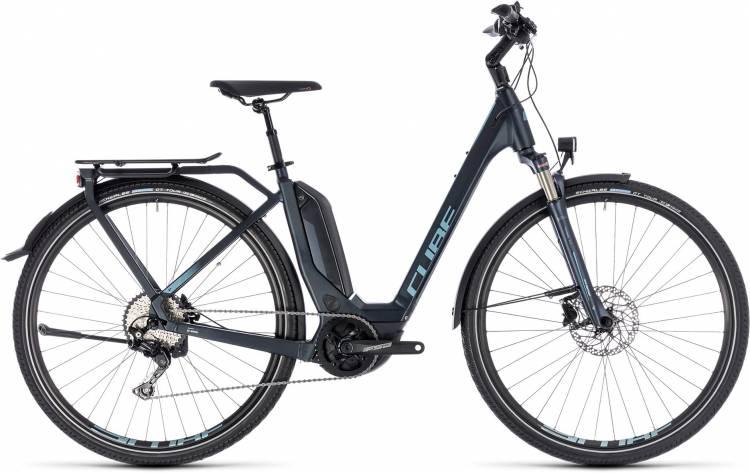 Cube Touring Hybrid Pro 400 darknavy n blue 2018 - Tiefeinsteiger E-Bike Trekkingrad