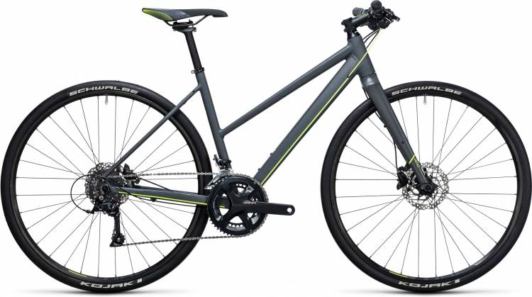 Cube SL Road Pro grey n flashyellow 2017 - Damen Trapez Fitnessrad