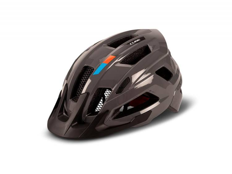 Cube Helm STEEP X Actionteam glossy grey´n´orange