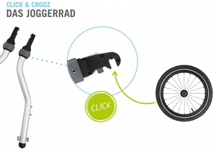 Croozer Kid Plus for 1 Click & Crooz Fahrradanhänger