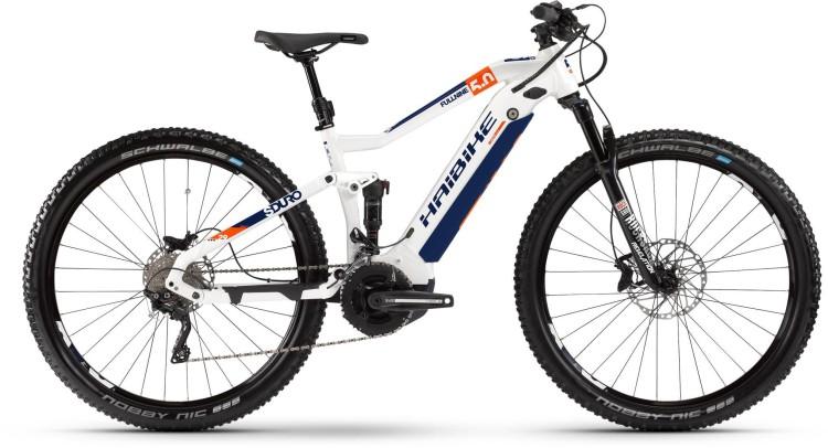 Haibike SDURO FullNine 5.0 500Wh Weiß/Orange/Blau 2020
