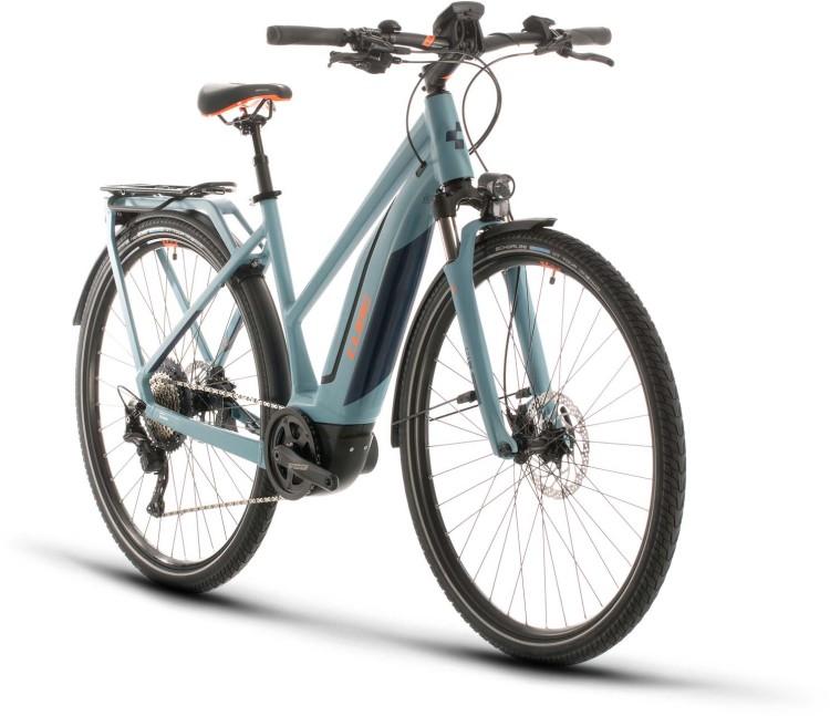 Cube Touring Hybrid EXC 500 blue n orange 2020 - E-Bike Trekkingrad Damen