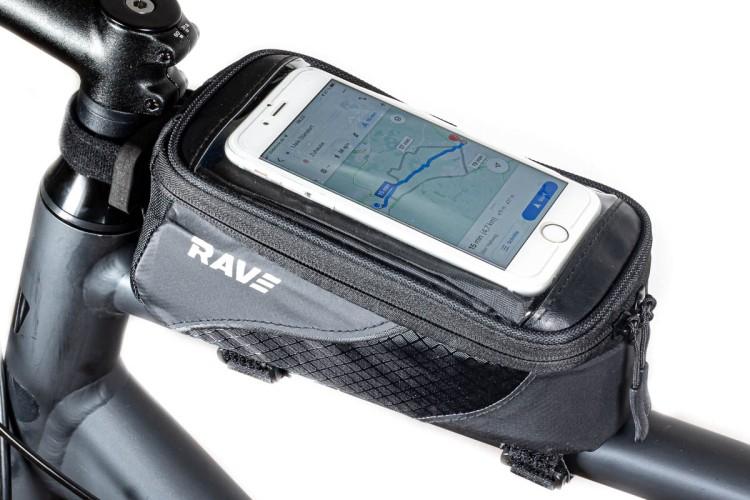 RAVE Fahrrad Handytasche Oberrohrtasche Rahmentasche Universal Halterung