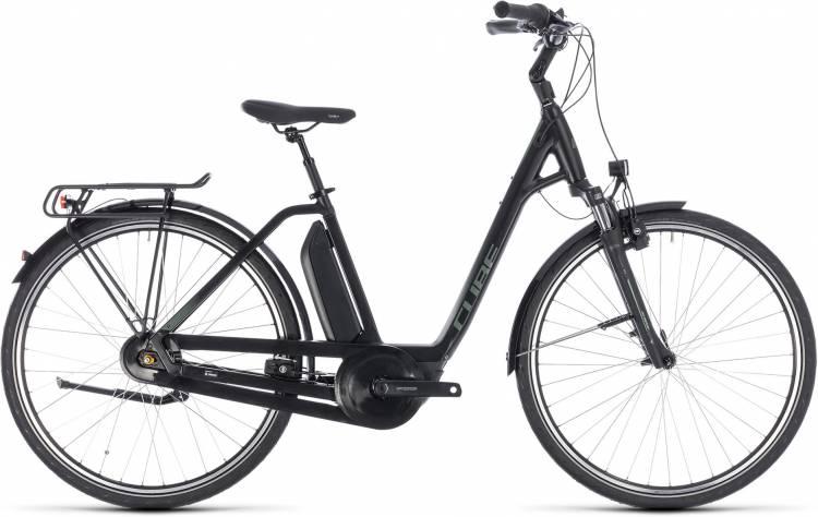 Cube Town Hybrid ONE 500 black n frostgreen 2018 - Tiefeinsteiger E-Bike Trekkingrad