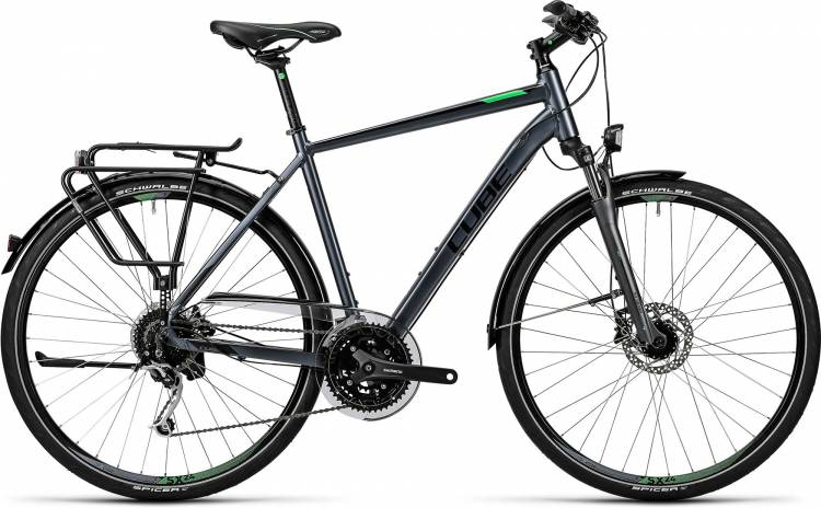 Cube Touring Exc grey black flashgreen Herren 2016