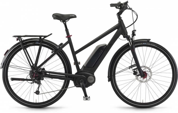 """Sinus Tria 9 500Wh 28"""" schwarz matt 2017 - Damen Trapez E-Bike Trekkingrad"""