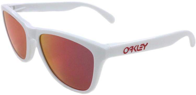 Oakley Frogskins Polished White / Ruby Iridium