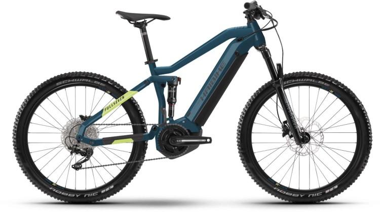 Haibike FullSeven 5 i500Wh blue/canary 2021 - E-Bike Fully Mountainbike
