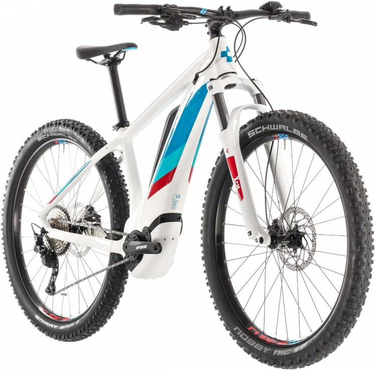 Cube Access Hybrid Pro 500 white n blue 2019