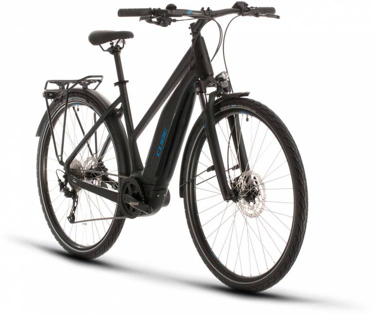 Cube Touring Hybrid ONE 500 black n blue 2020 - E-Bike Trekkingrad Damen