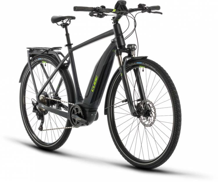 Cube Touring Hybrid EXC 500 iridium n green 2020 - E-Bike Trekkingrad Herren