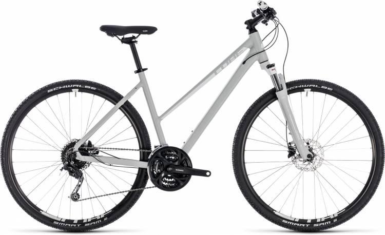 Cube Nature Pro bright grey n white 2018 - Damen Trapez Crossrad