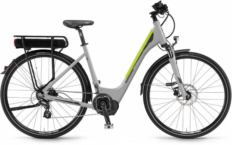 """Winora Y280.X 400Wh 28"""" silber 2017 - Tiefeinsteiger E-Bike Trekkingrad"""