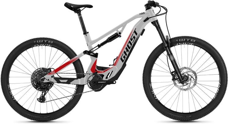 Ghost Hybride ASX Base 160 silver / black / red 2021 - E-Bike Fully Mountainbike