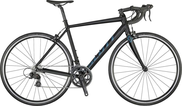 Scott Speedster 50 black / prism green 2021 - Aluminium Rennrad Herren