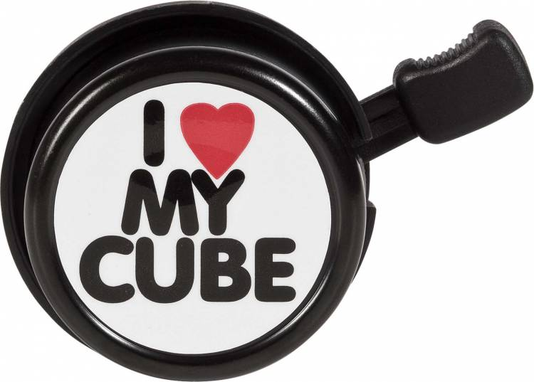 Cube Fahrradklingel I LOVE MY Cube black n white n red