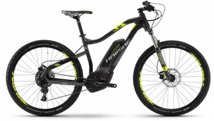 Haibike SDURO HardSeven 4.0 500Wh anthr./schwarz/lime 2018 - E-Bike Hardtail Mountainbike