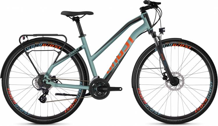 Ghost Square Trekking 2.8 AL W river blue / jet black / monarch orange 2020 - Trekkingrad Damen