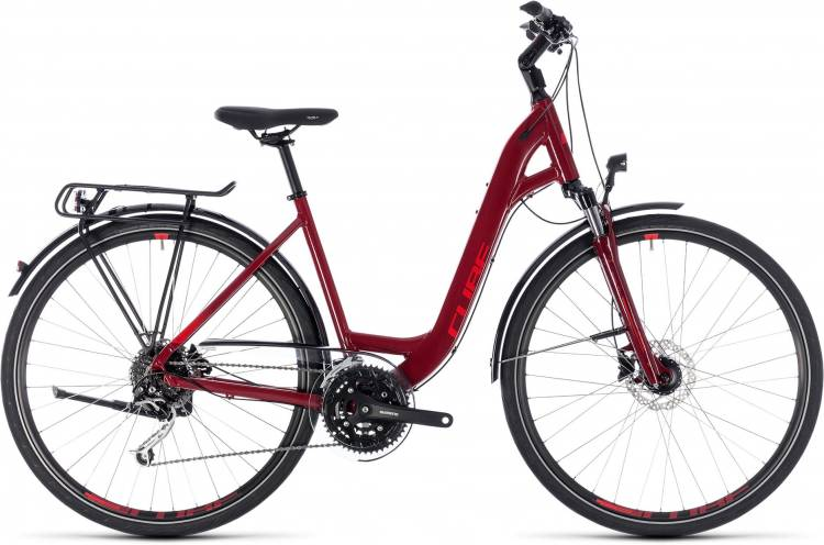 Cube Touring EXC darkred n red 2018 - Tiefeinsteiger Trekkingrad