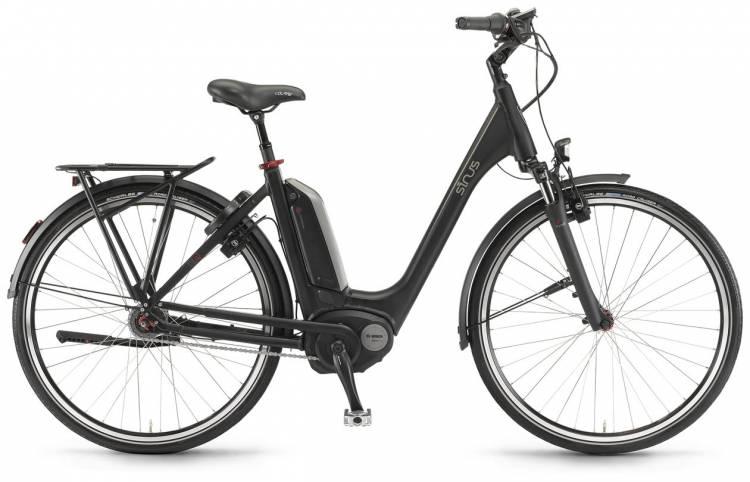 """Sinus Tria N7f 400Wh 26"""" schwarz matt 2017 - Tiefeinsteiger E-Bike Trekkingrad"""
