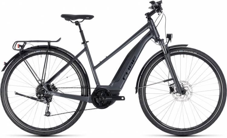 Cube Touring Hybrid ONE 400 iridium n black 2018 - Damen Trapez E-Bike Trekkingrad